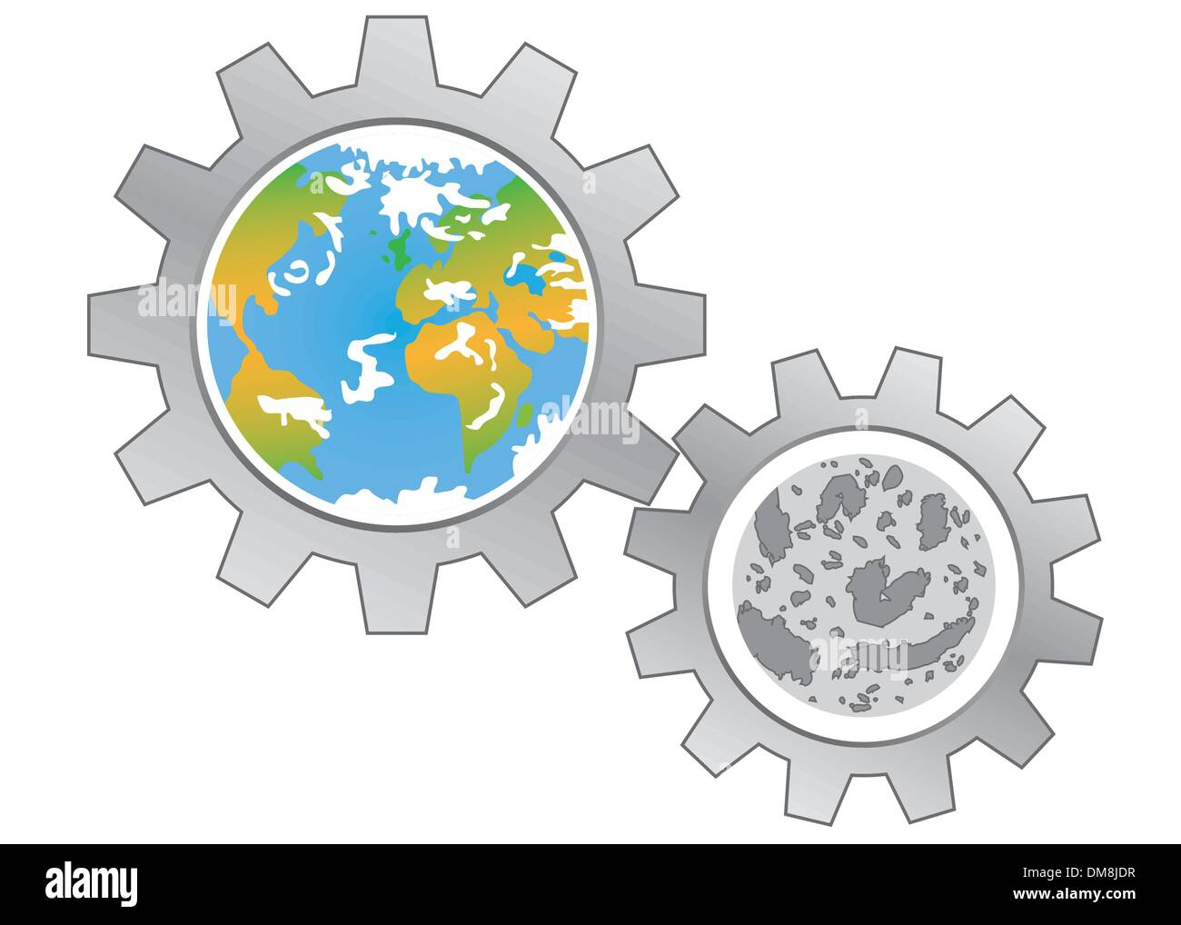 Earth and moon - Stock Image