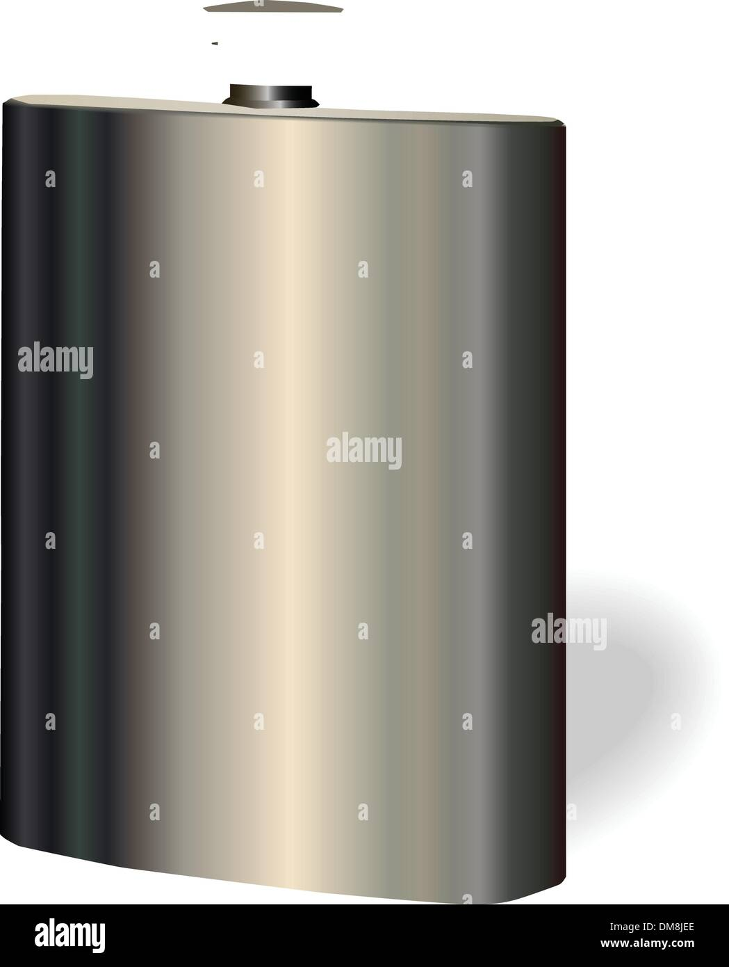 vector single hip flask on white background - Stock Vector