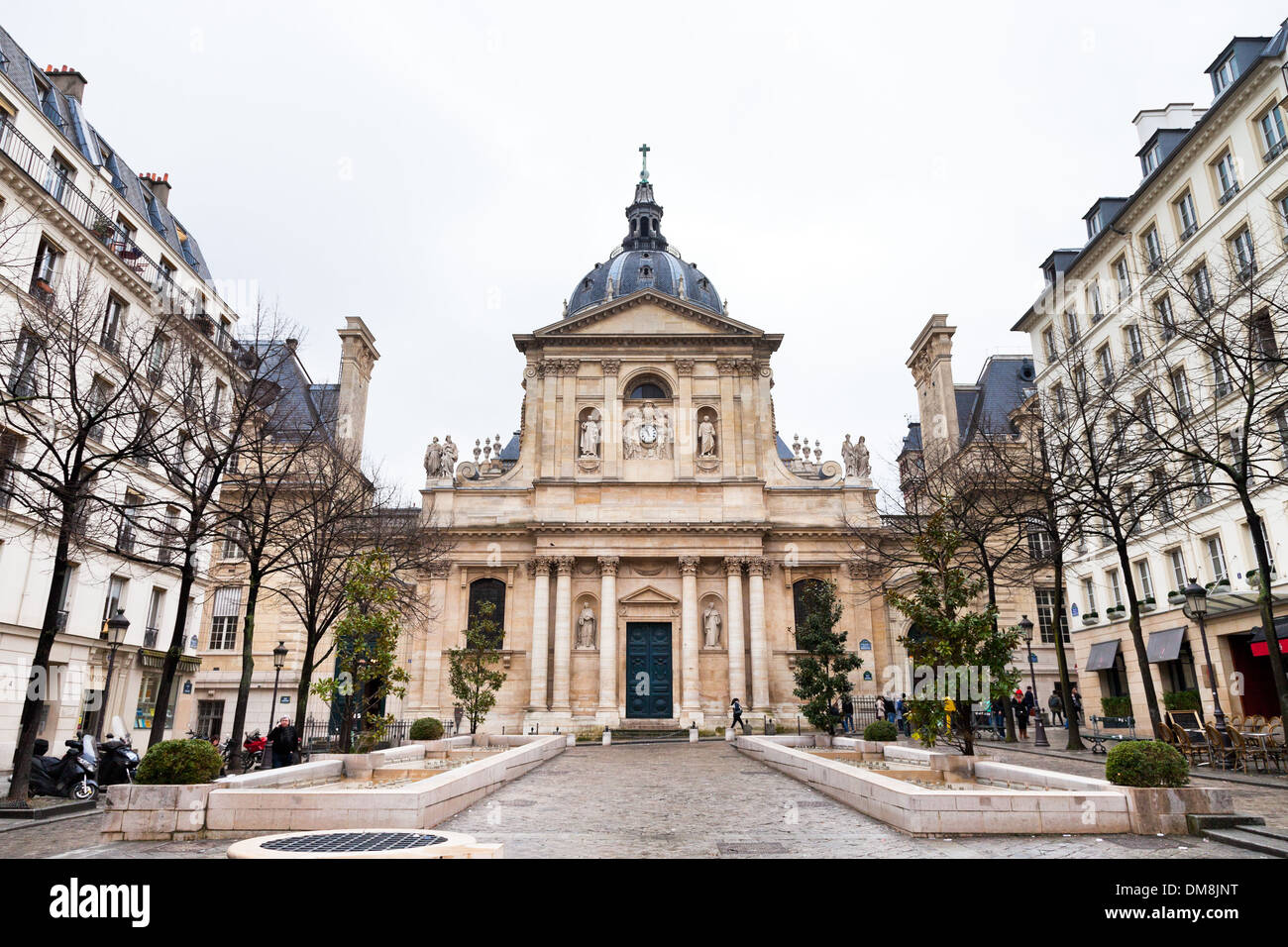 Sorbonne Square in Paris Stock Photo