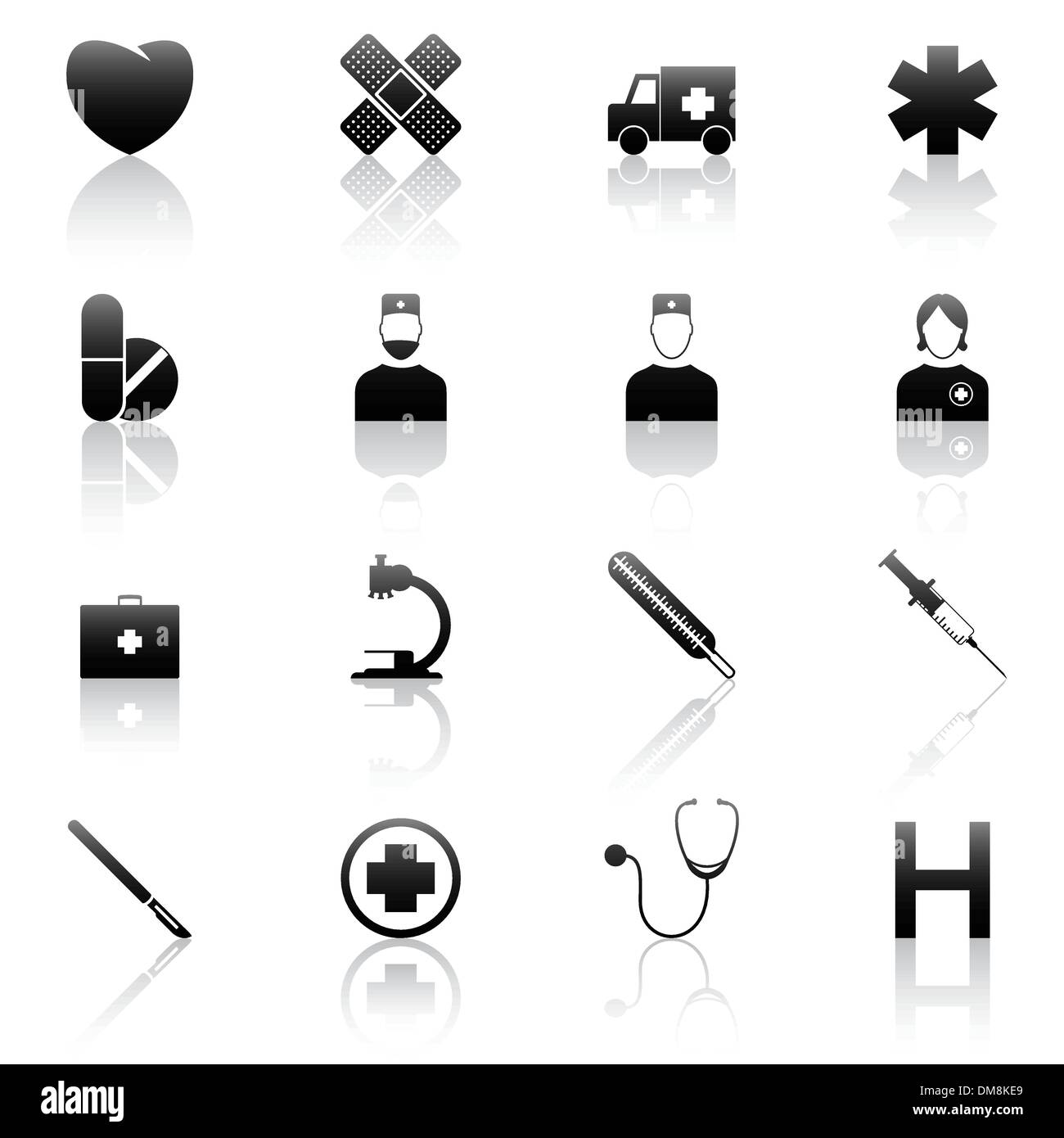 Medical icons - Stock Image