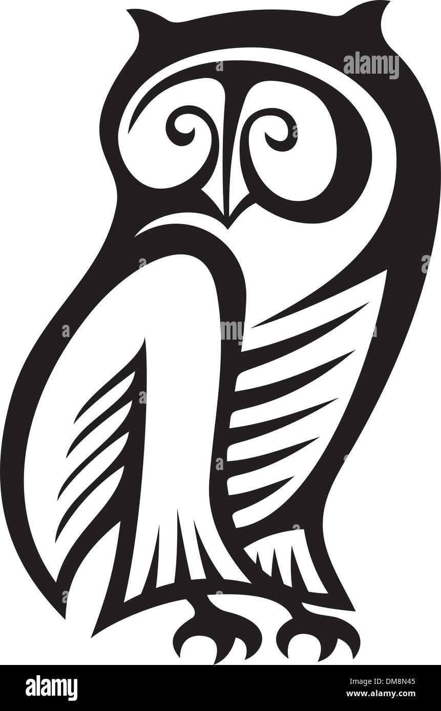 Owl symbol - Stock Vector