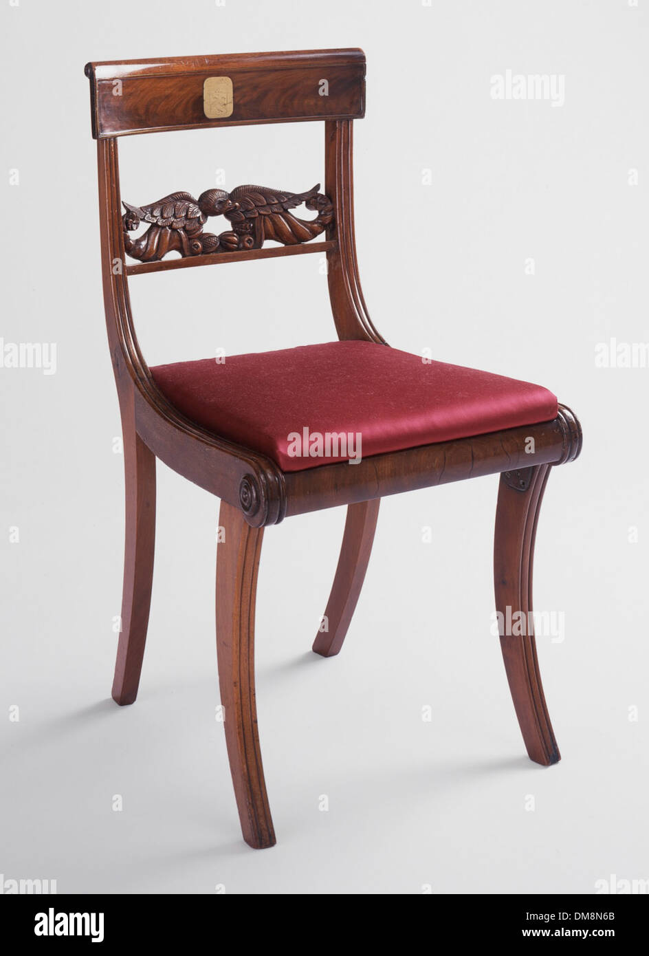 Scroll Back Klismos Side Chair With Grecian Front Legs 82.125 (1 Of 2)