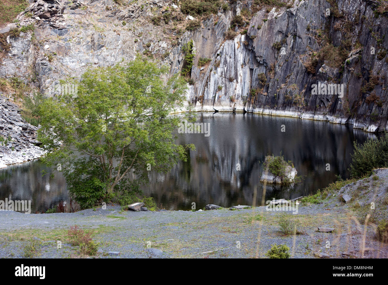 Slate Quarries near Ahenny Co. Killkenny,Ireland - Stock Image