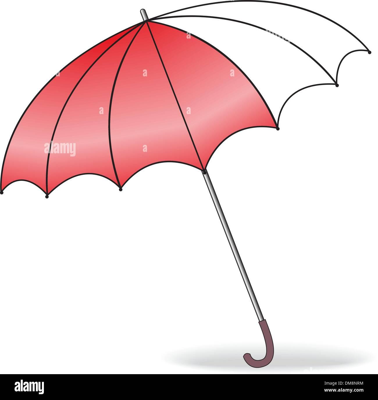 red umbrella - Stock Image