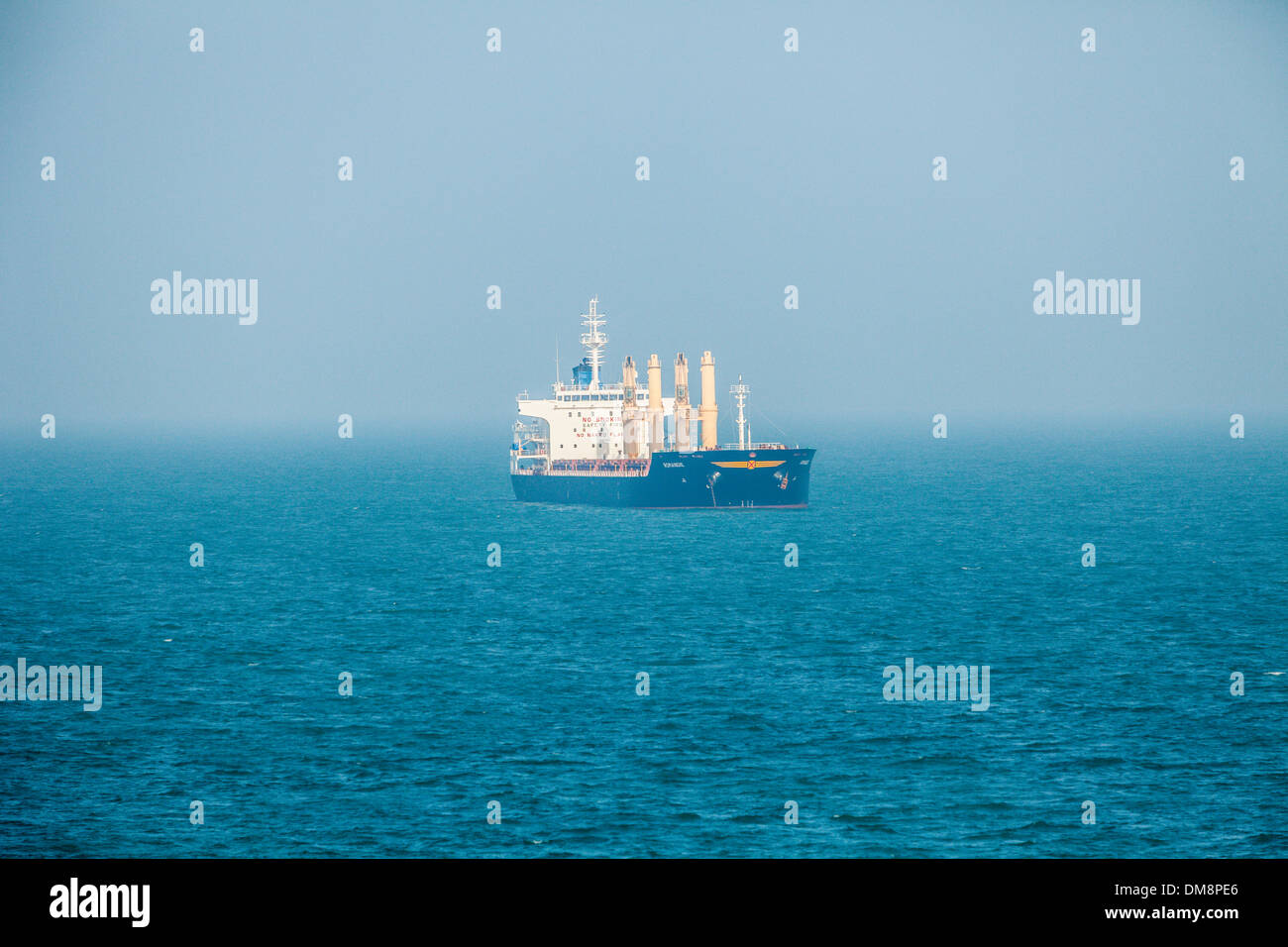 Freighters and other shipping in the straits of Dover, England - Stock Image