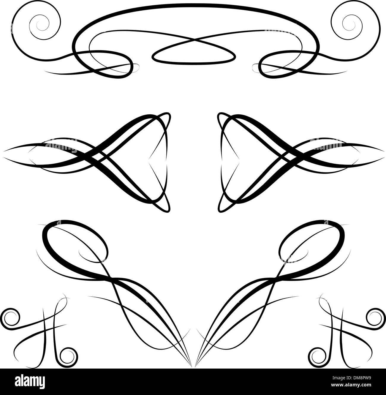 elegant formal invitation design elements stock vector art