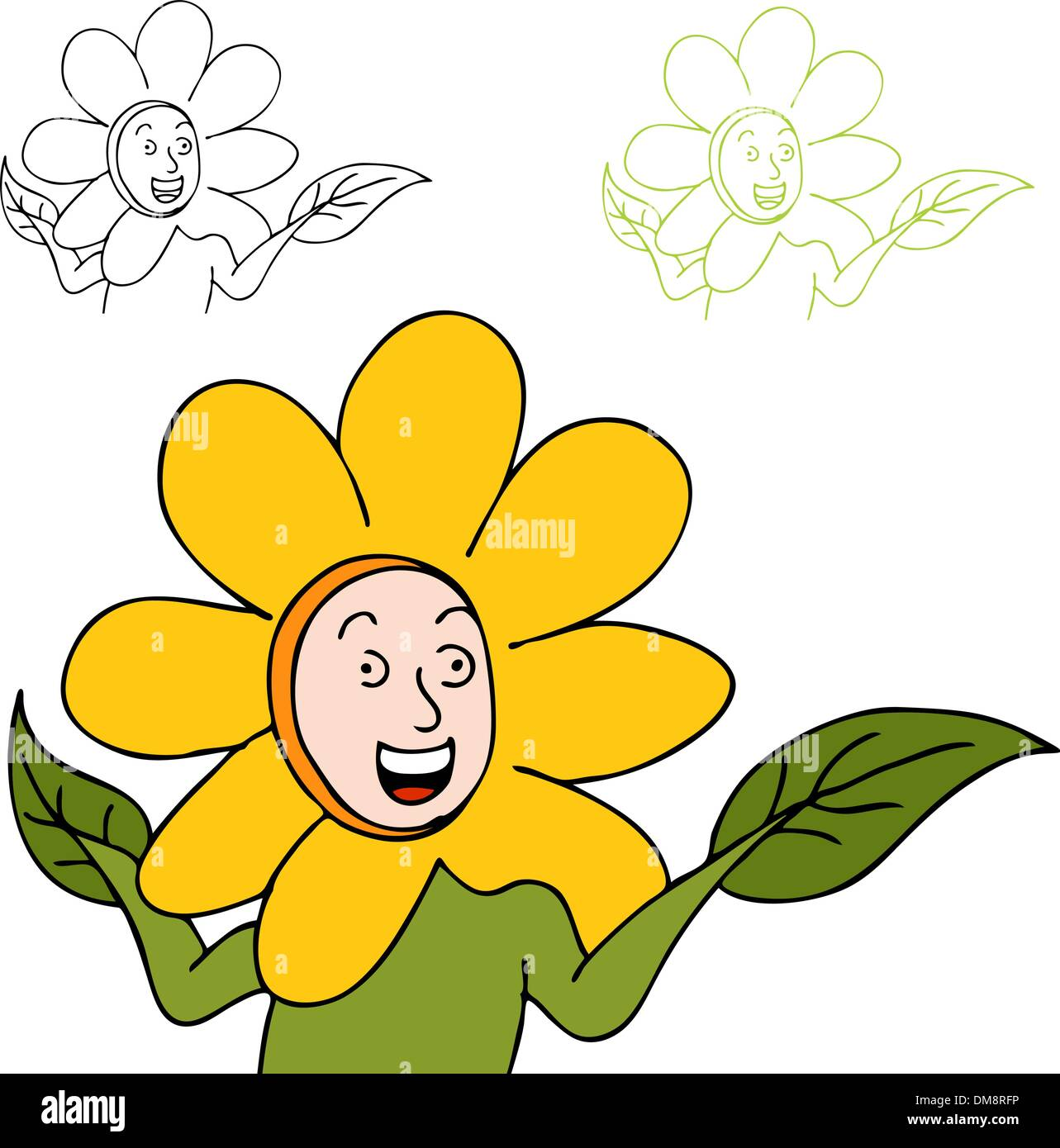 Cartoon Daisy Flower Image Cut Out Stock Images Pictures Alamy