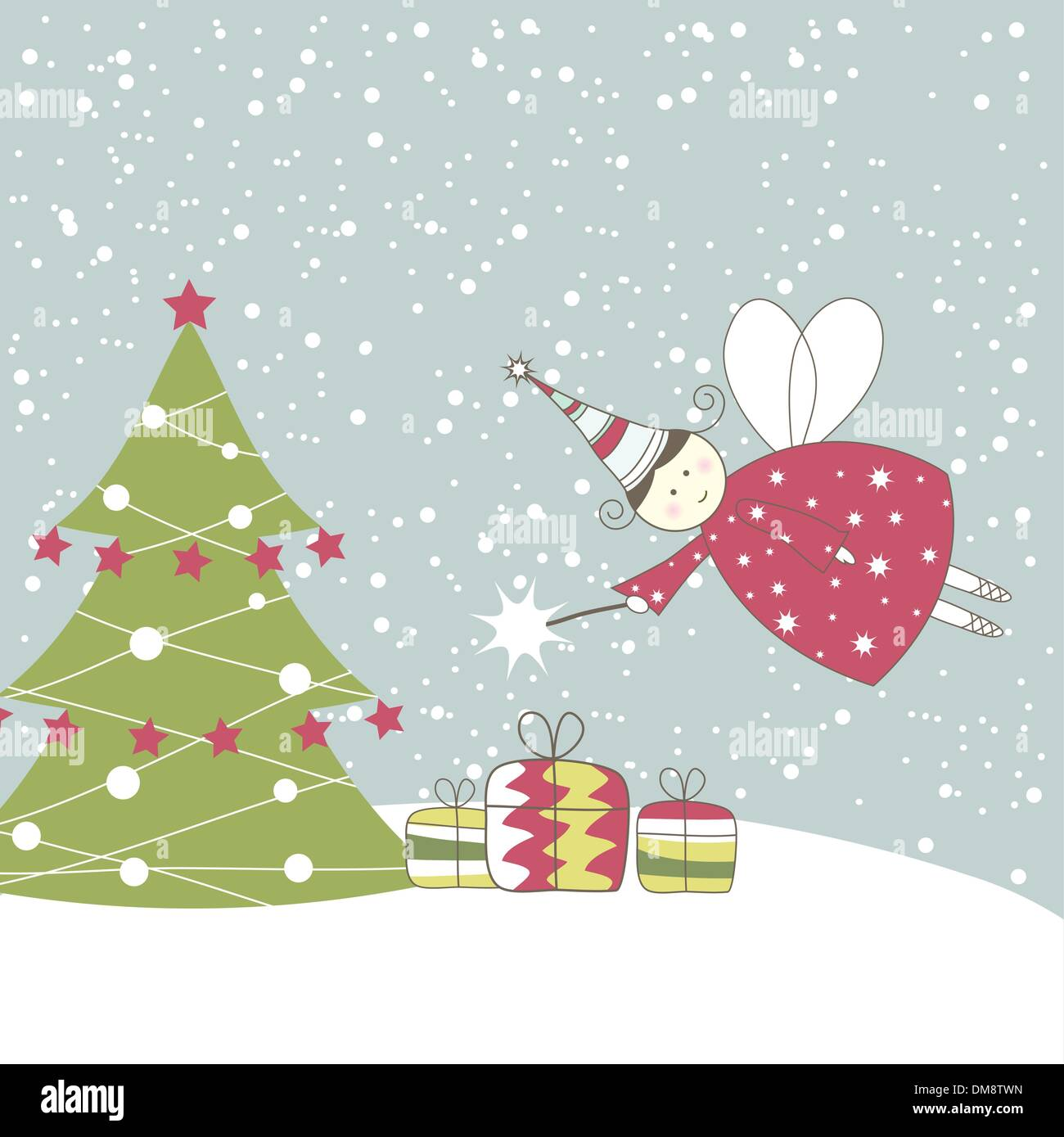Illustration Christmas Tree Angel Stock Photos Illustration