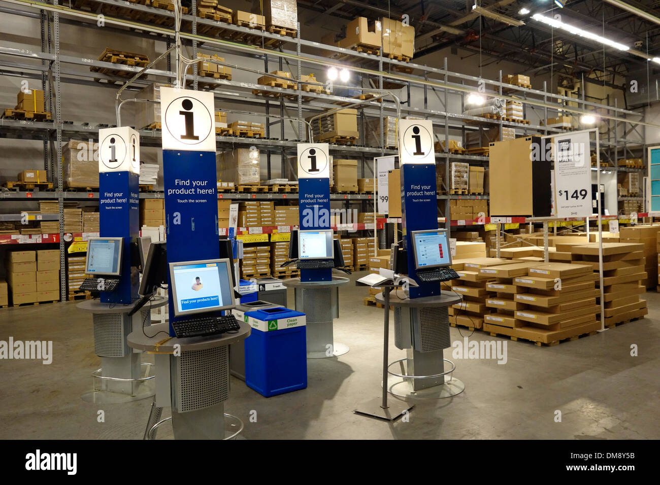 Ikea store warehouse stock photo 64121159 alamy for Ikea store online shopping