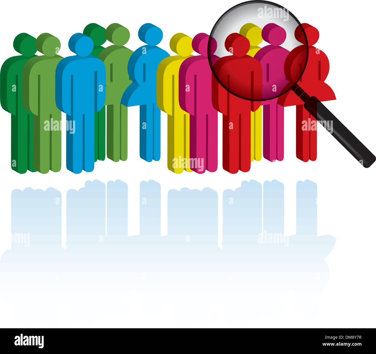 Search colleagues - Stock Vector
