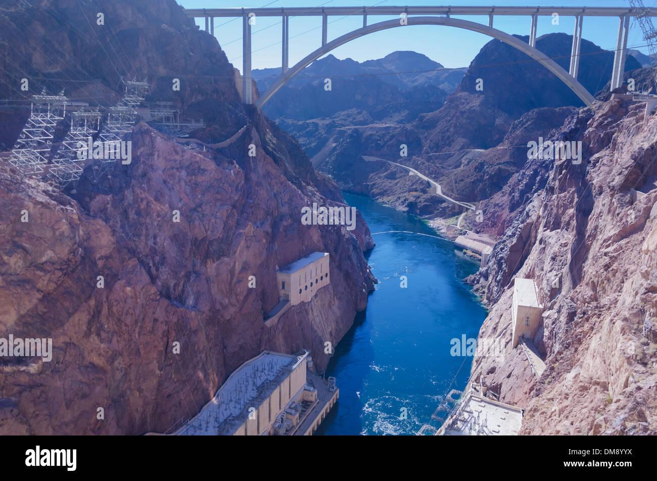 Hoover Dam Bridge Stock Photos & Hoover Dam Bridge Stock