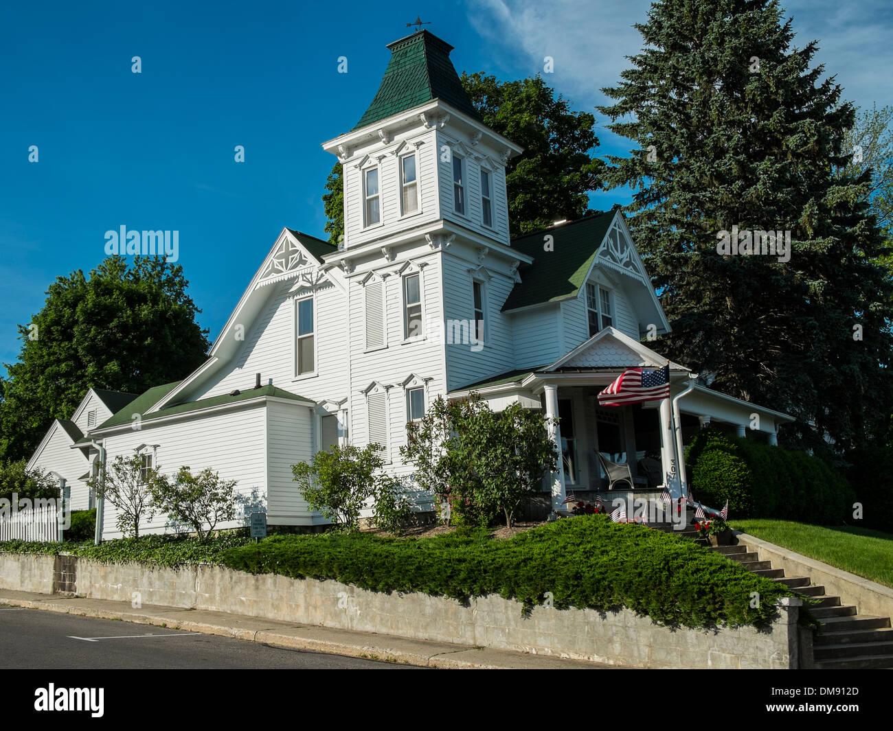 19th century style residence in Harbor Springs, MI - Stock Image