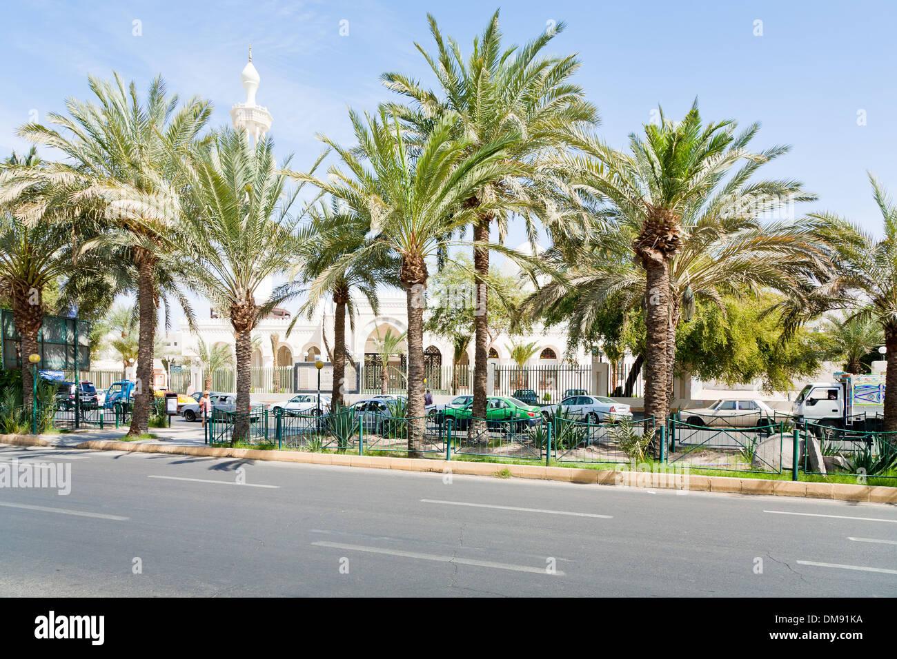King Hussein Street in Aqaba - Stock Image