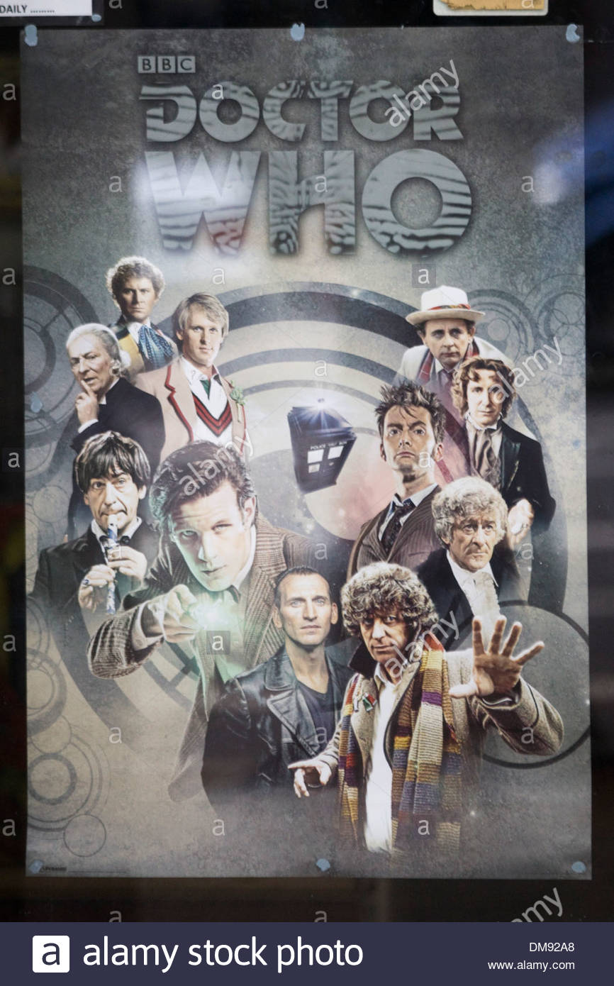 Doctor Who Poster 'Day of the Doctor' - Stock Image