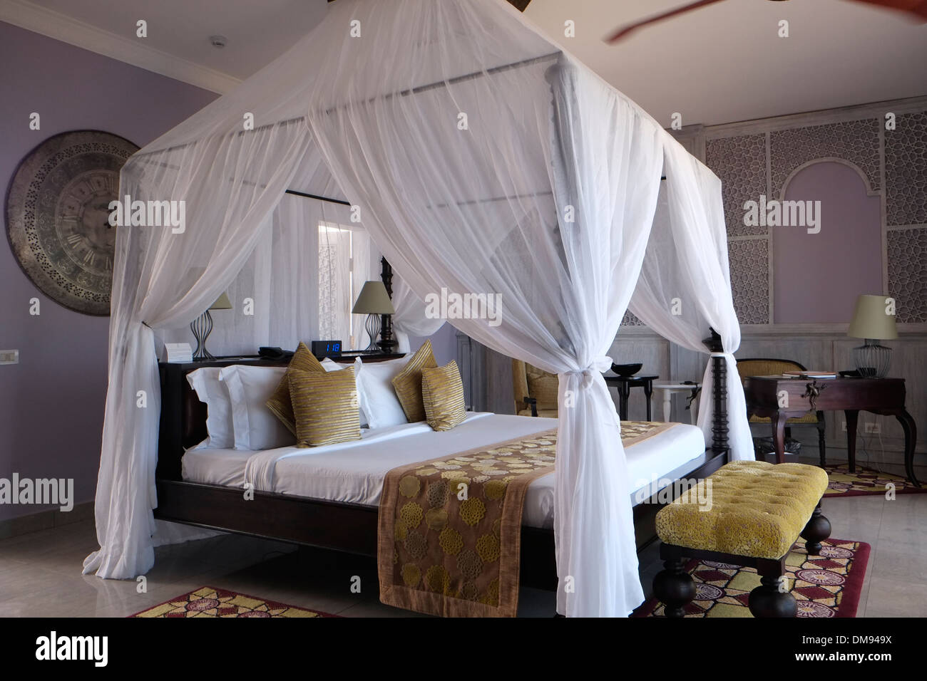 The Presidential Suite in Hideaway of Nungwi Resort on the north-west coast of Zanzibar island a semi-autonomous part of Tanzania, in East Africa - Stock Image