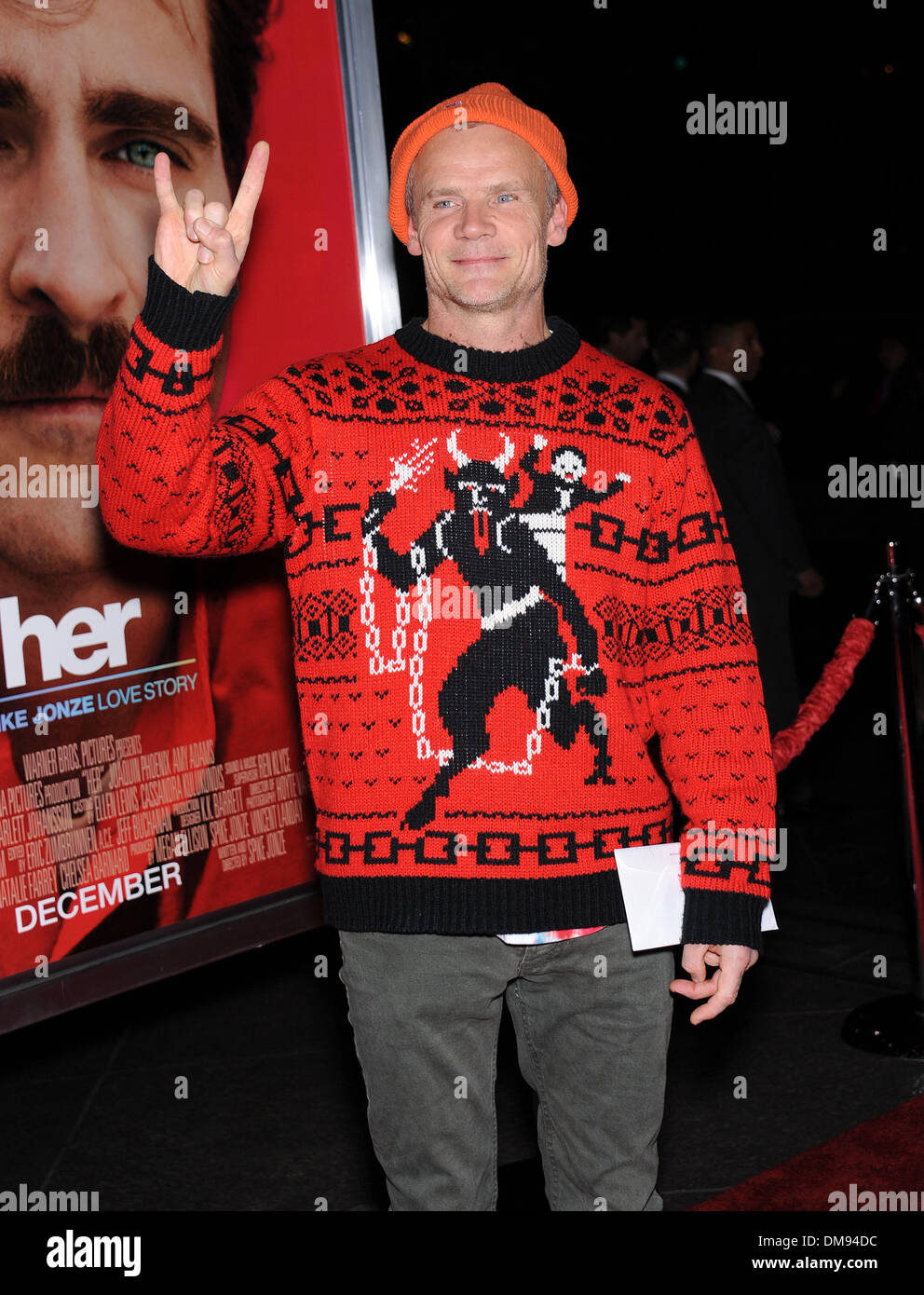 West Hollywood, California, USA. 12th Dec, 2013. Flea arrives for the premiere of the film 'Her' at the DGA theater. Stock Photo