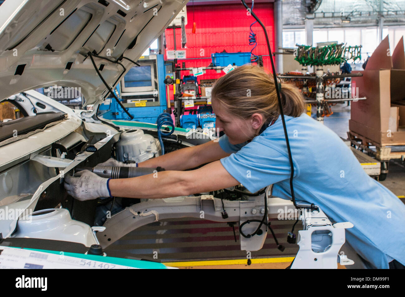 Production lines in General Motors Holden Elizabeth plant in South Australia Stock Photo