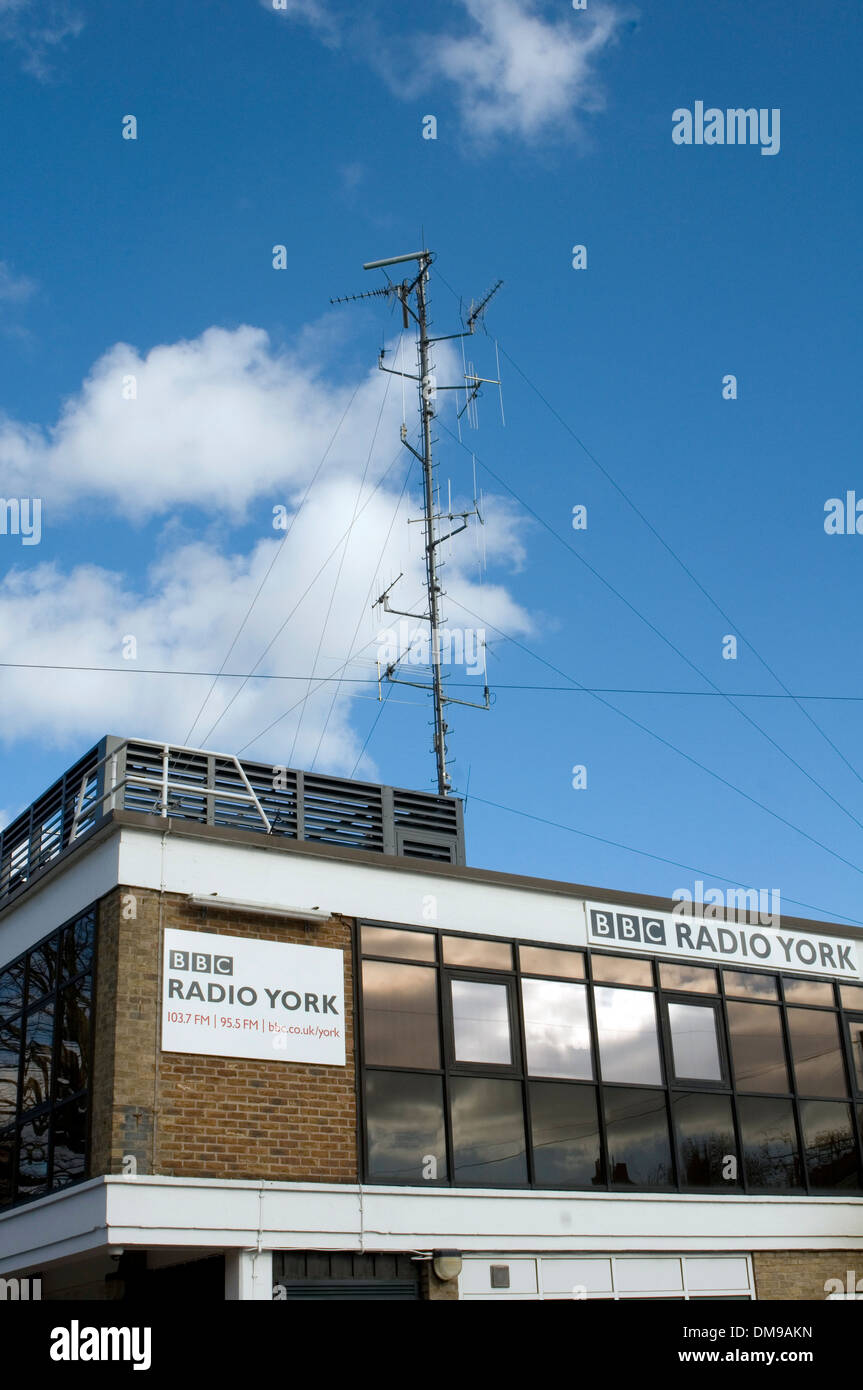 bbc local radio station york stations broadcaster regional transmitter fm frequency modulation transmissions - Stock Image