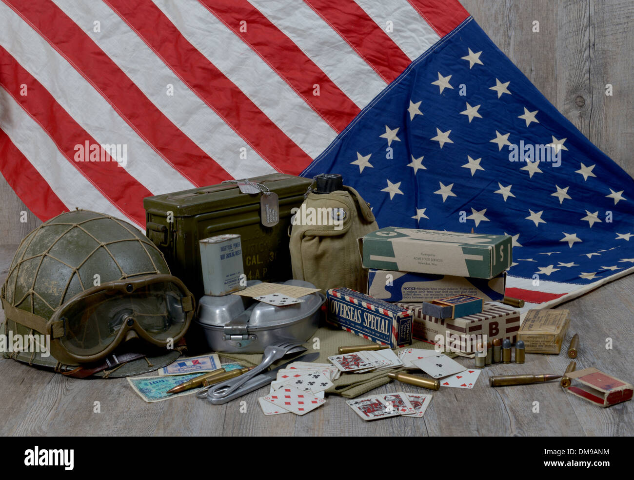 material of the American Soldier World War II - Stock Image
