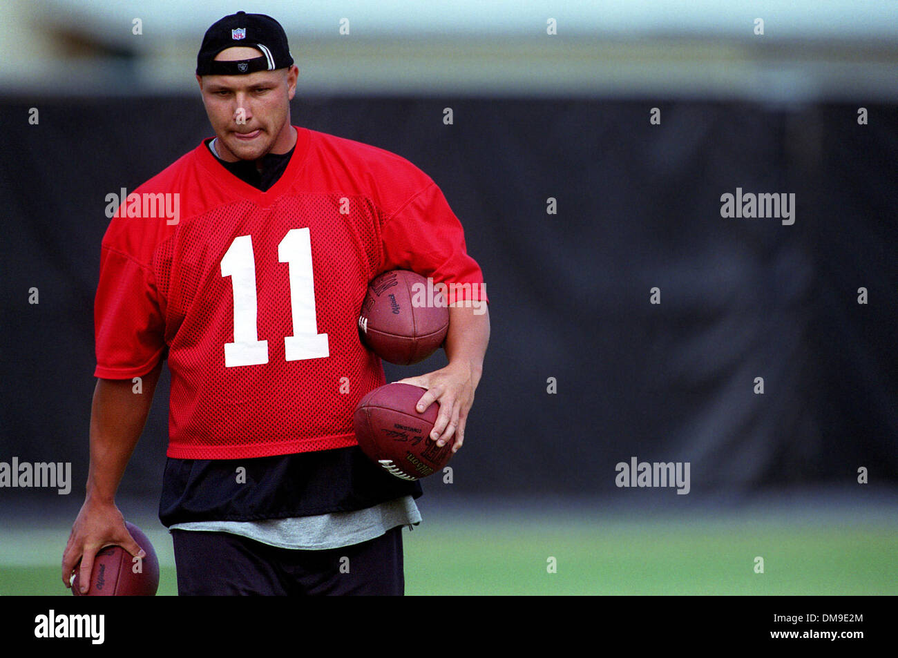 Sebastion Janikowski will have his hands full in his rookie season in the NFL with the Oakland Raiders.  A first Stock Photo