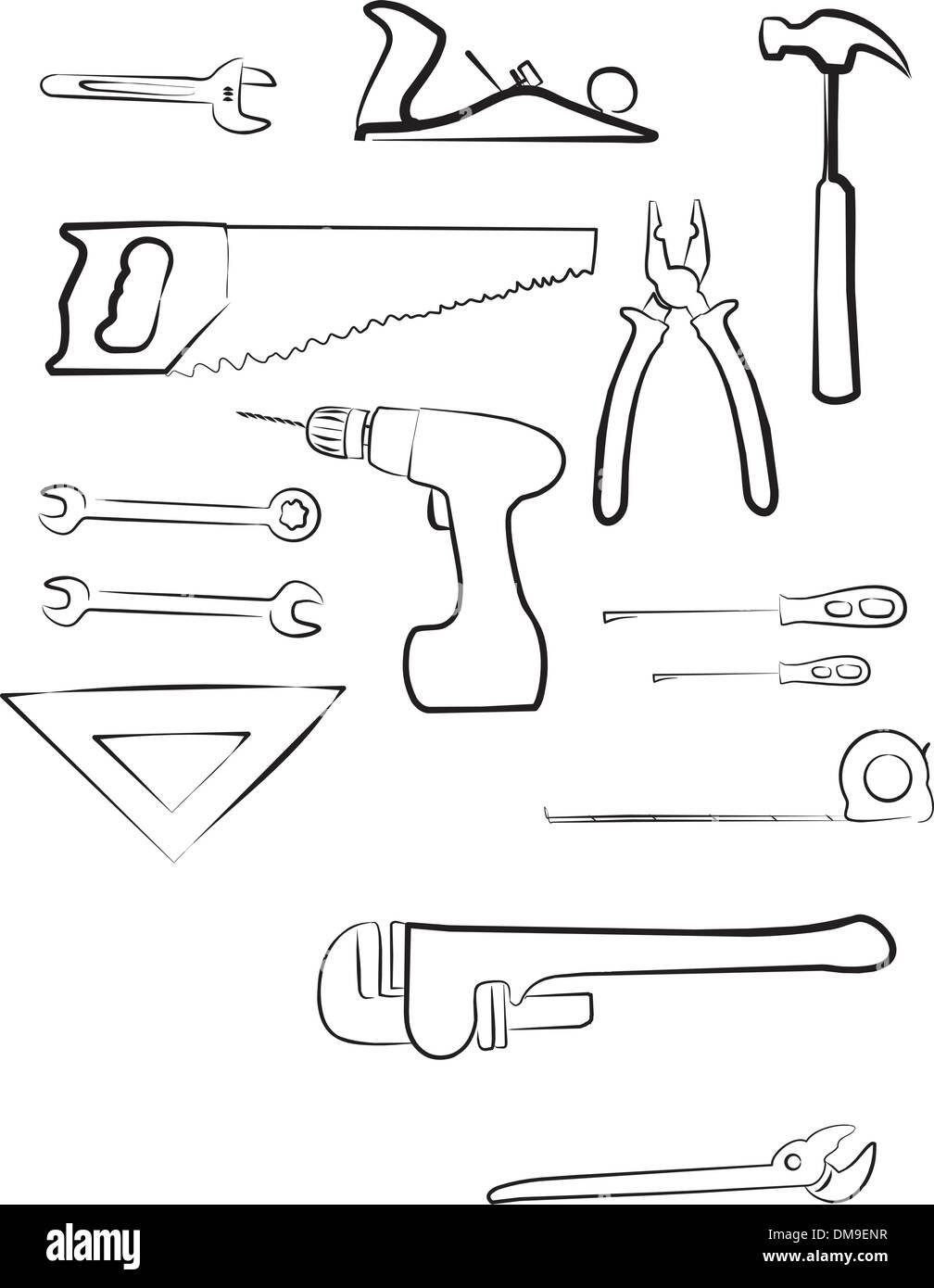 set of repairing tools - Stock Image