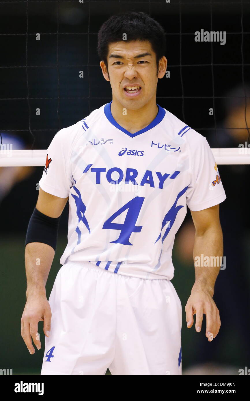 Shigeru Kondo (Arrows), DECEMBER 12 , 2013 - Volleyball : 2013 Emperor's Cup and Empress's Cup All Japan Volleyball Championship men's match between Toray Arrows 3-1 Toa-Univ at Tokyo Metropolitan Gymnasium, Tokyo, Japan. - Stock Image