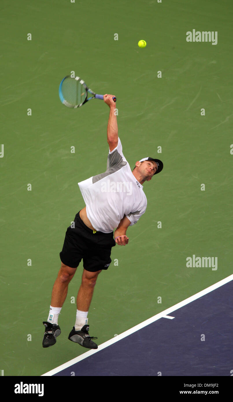 Mar 12, 2005; Indian Wells, California, USA;ANDY RODDICK at the Pacific Life Open Tennis tournament 2003. Stock Photo