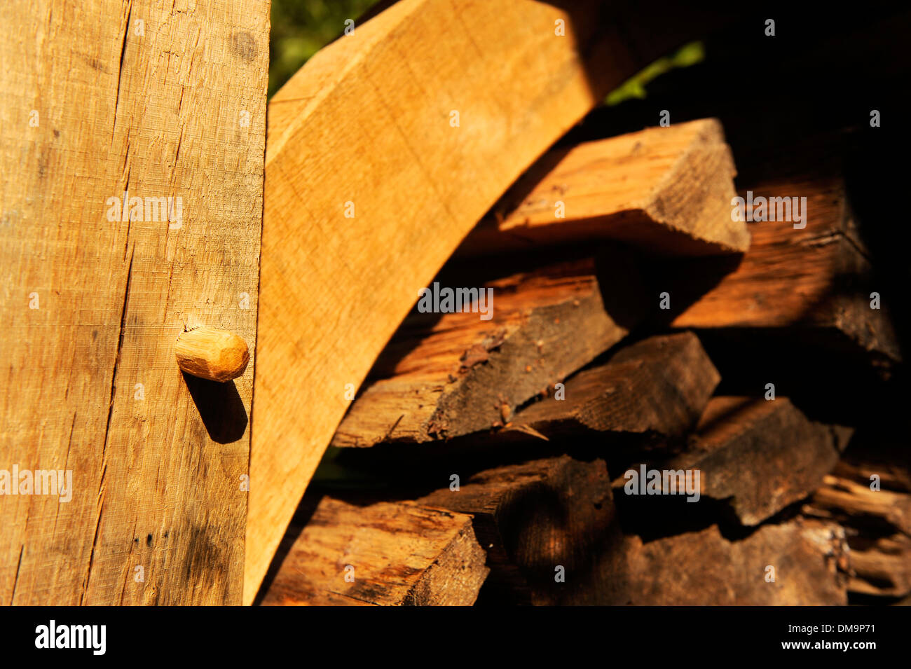 Traditional style oak construction - Stock Image