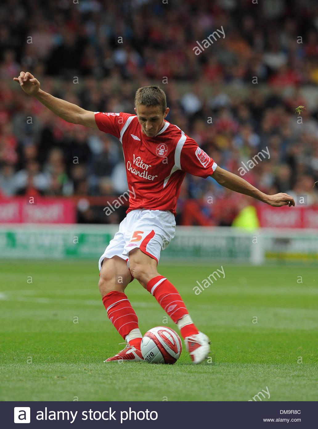 Chris Cohen of Nottingham Forest..Coca Cola Championship..Nottingham Forest v Derby County..29th August, 2009.(Credit Stock Photo