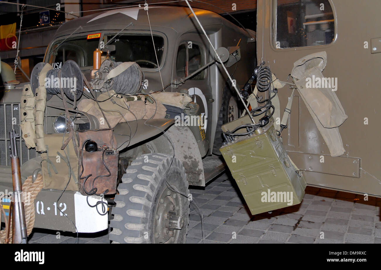 Military Car Lot >> World War Two Military Vehicle With Lot Of Equipment Stock