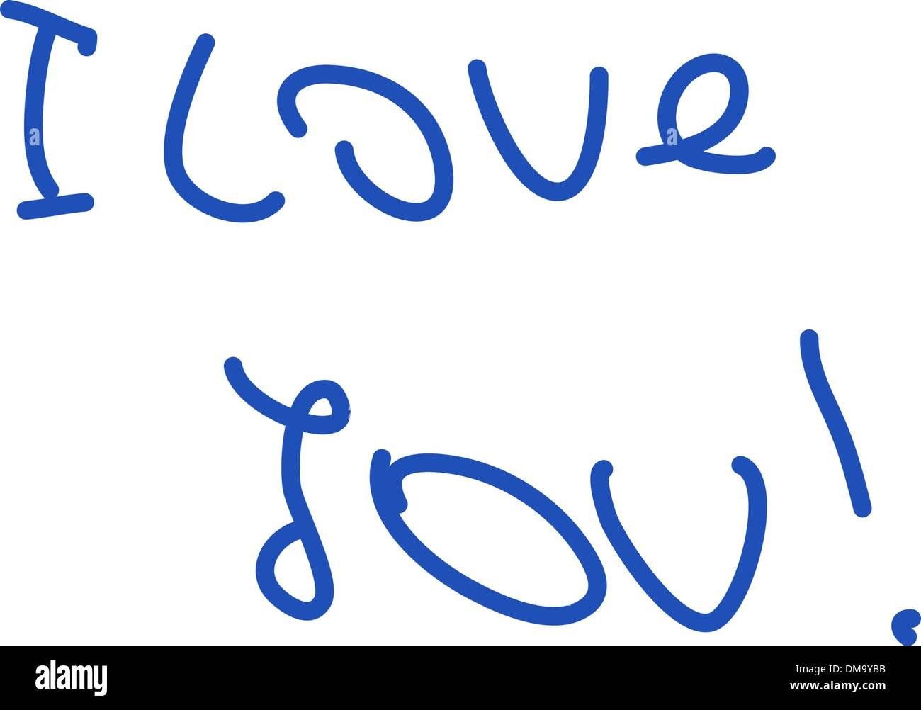 Sticky-note: I Lovw You! EPS 8 - Stock Vector