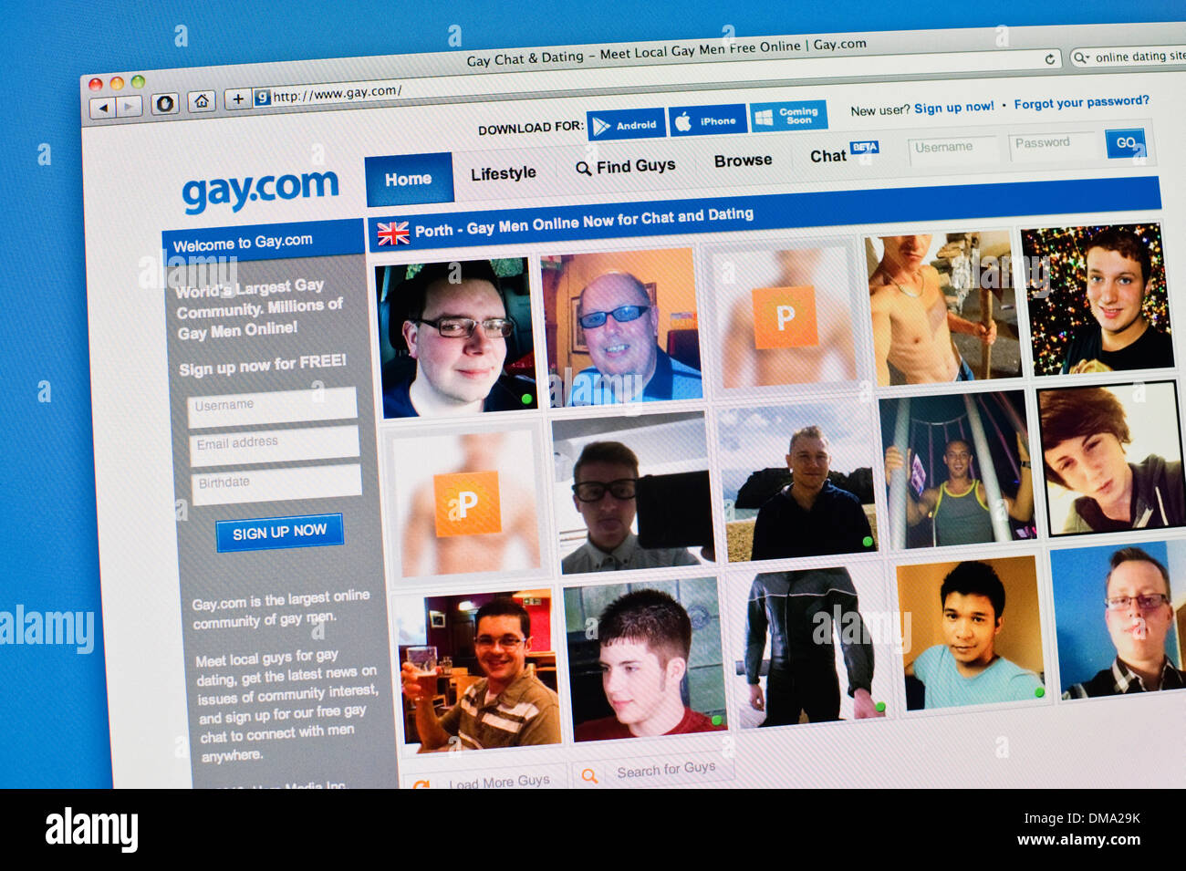 Gay men dating websites