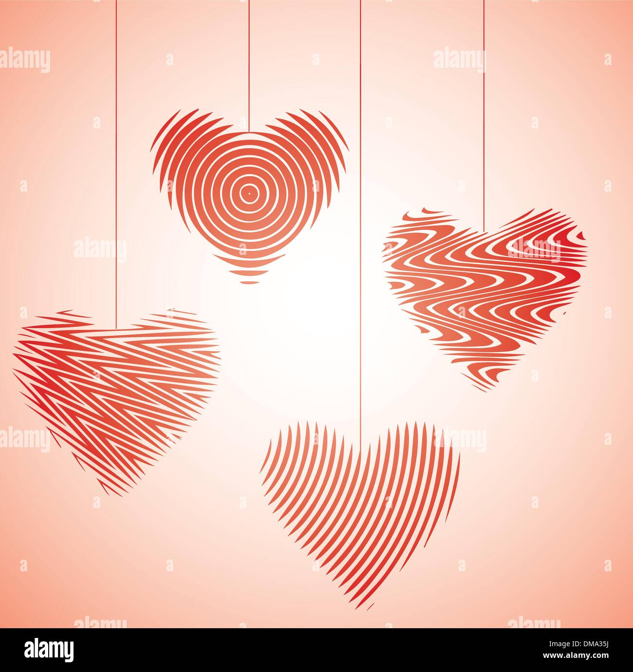 Heart dance IV - Stock Vector