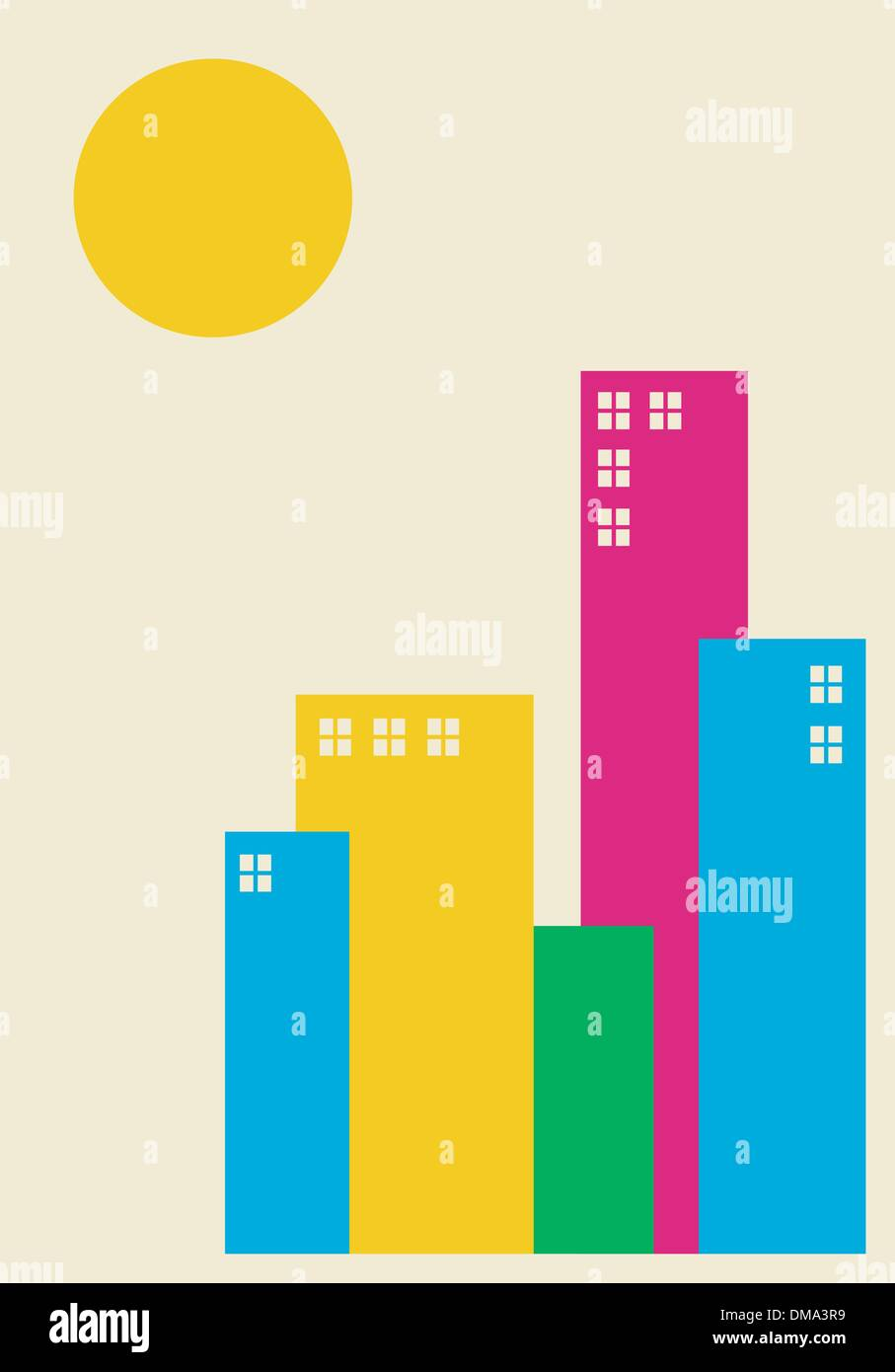 Spring time city Stock Vector