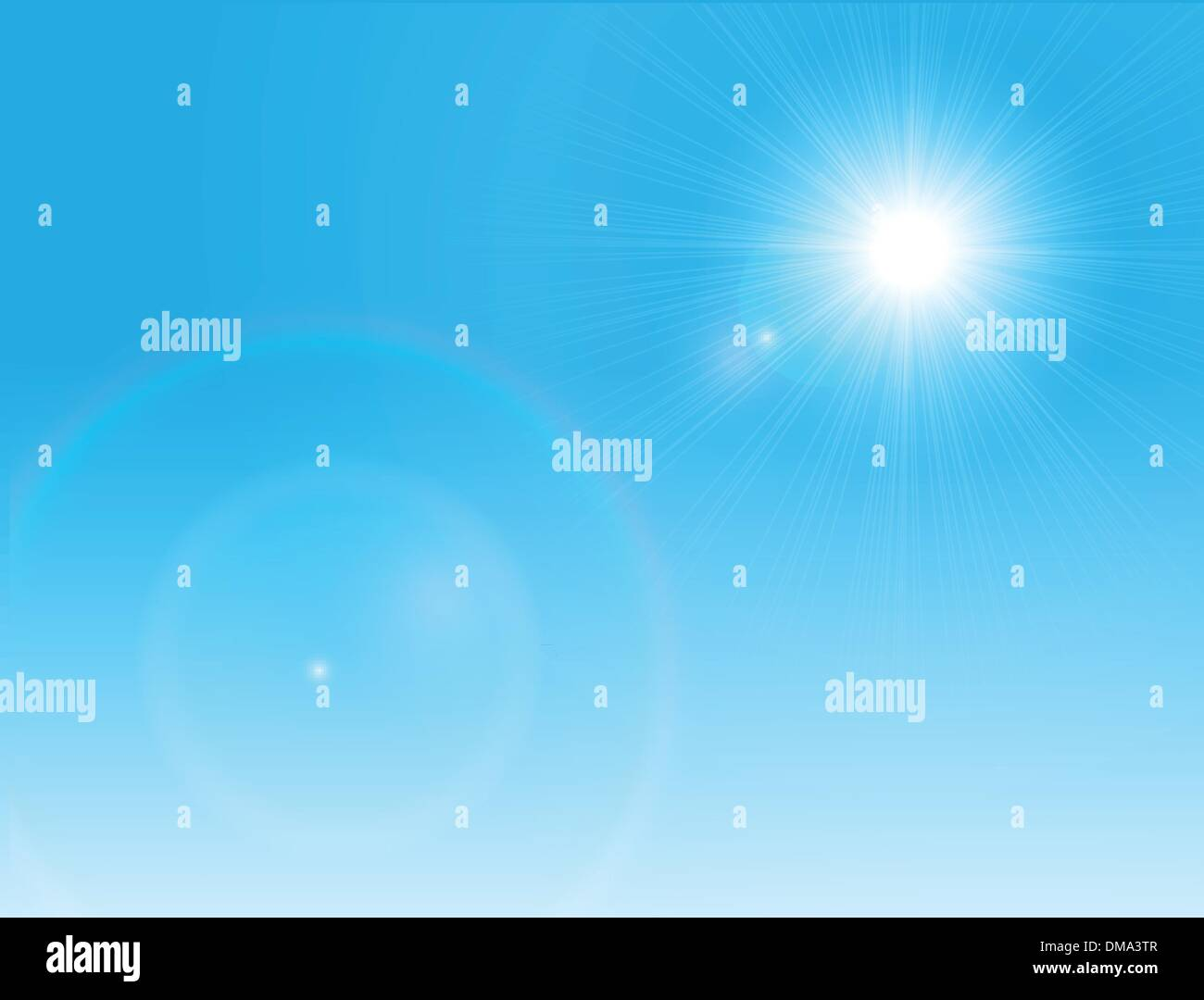 Sun on a clear sky - Stock Image