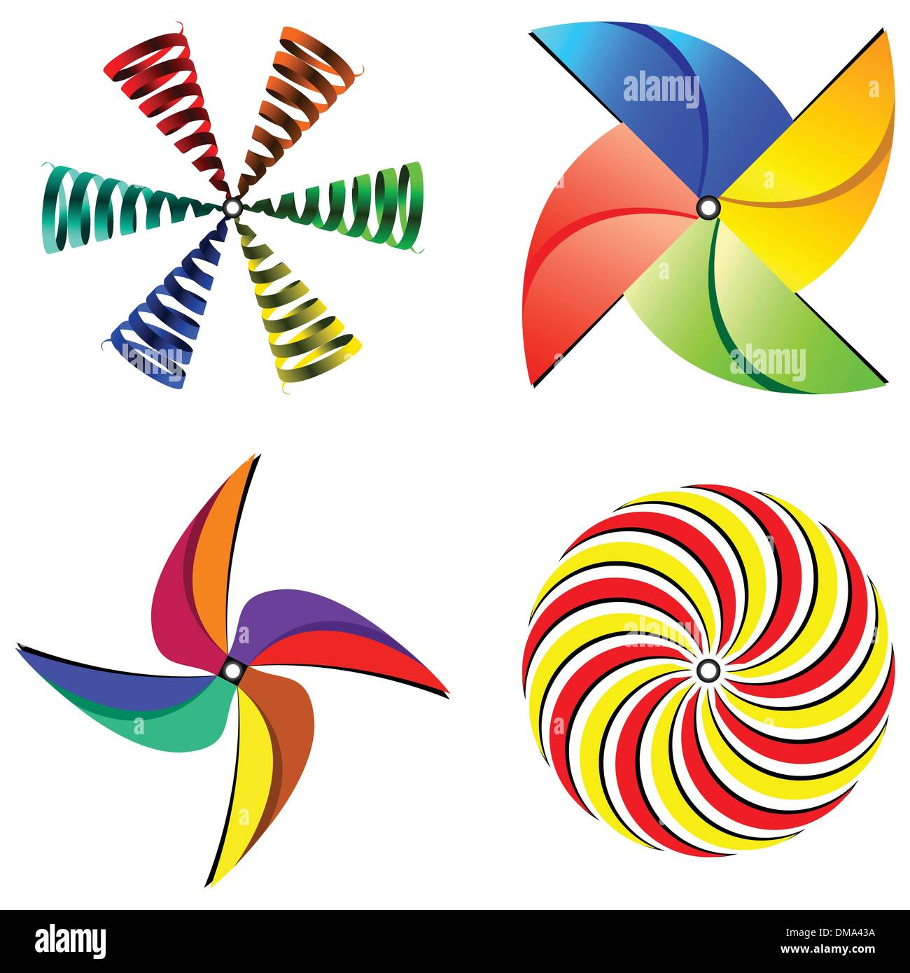wind mills collection - Stock Vector