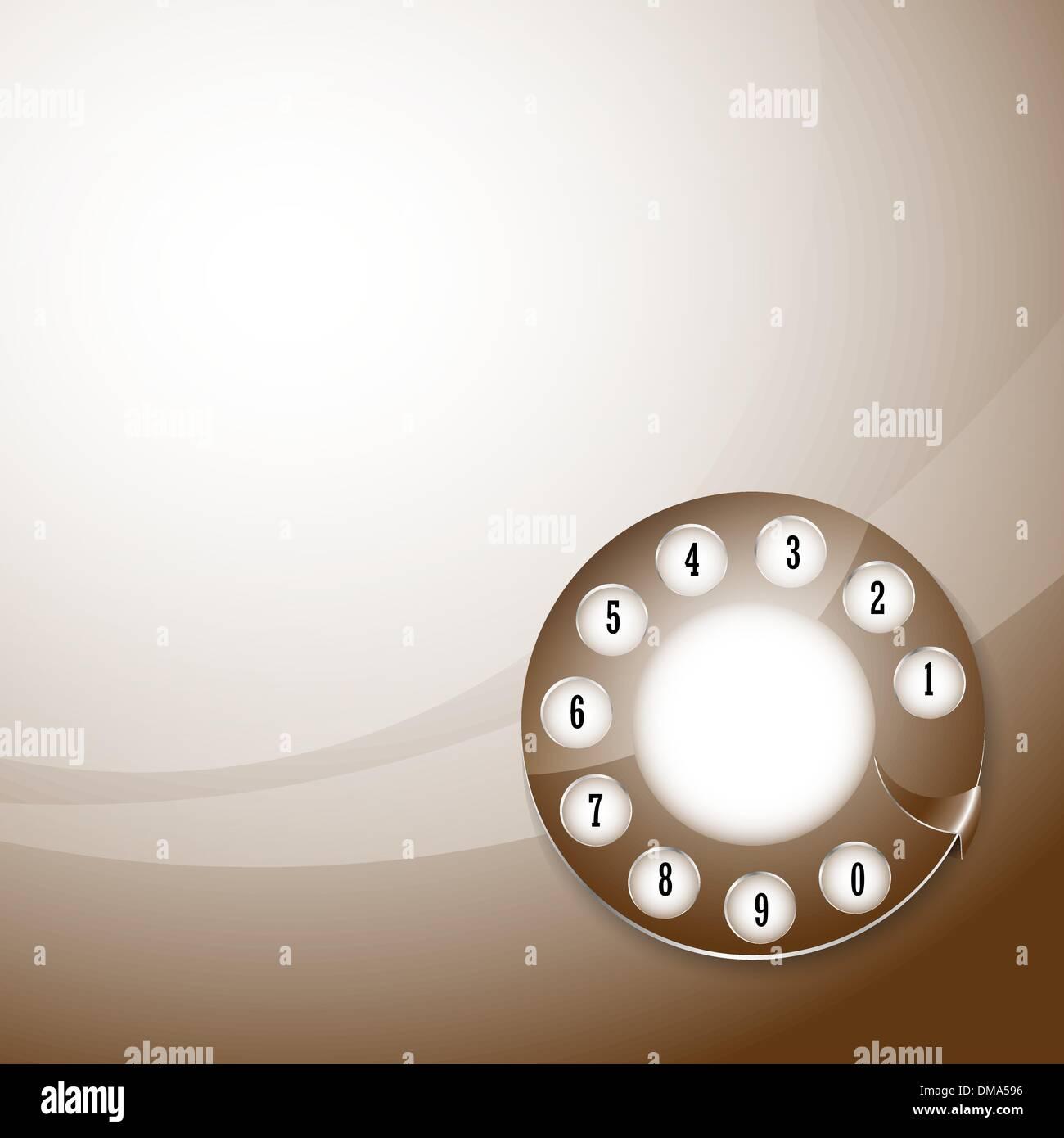 telephone disk background - Stock Image