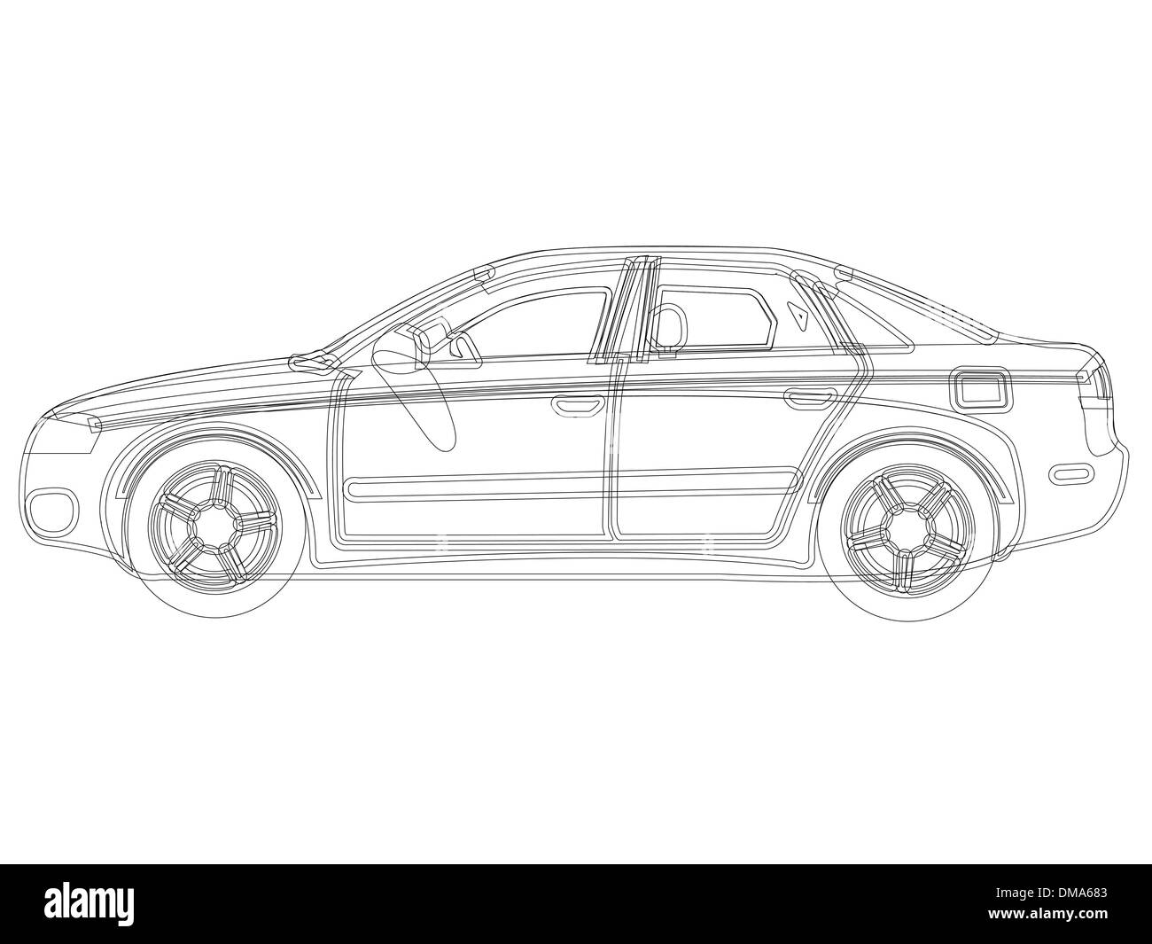 Line Drawing Of Car : Drawing with design u annedalton