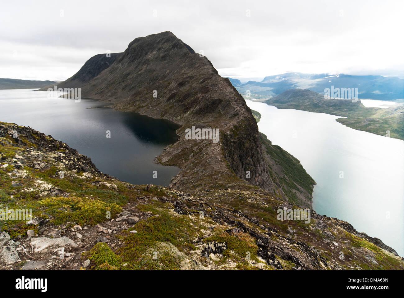 Besseggen ridge in the Jotunheimen National Park, Norway - Stock Image