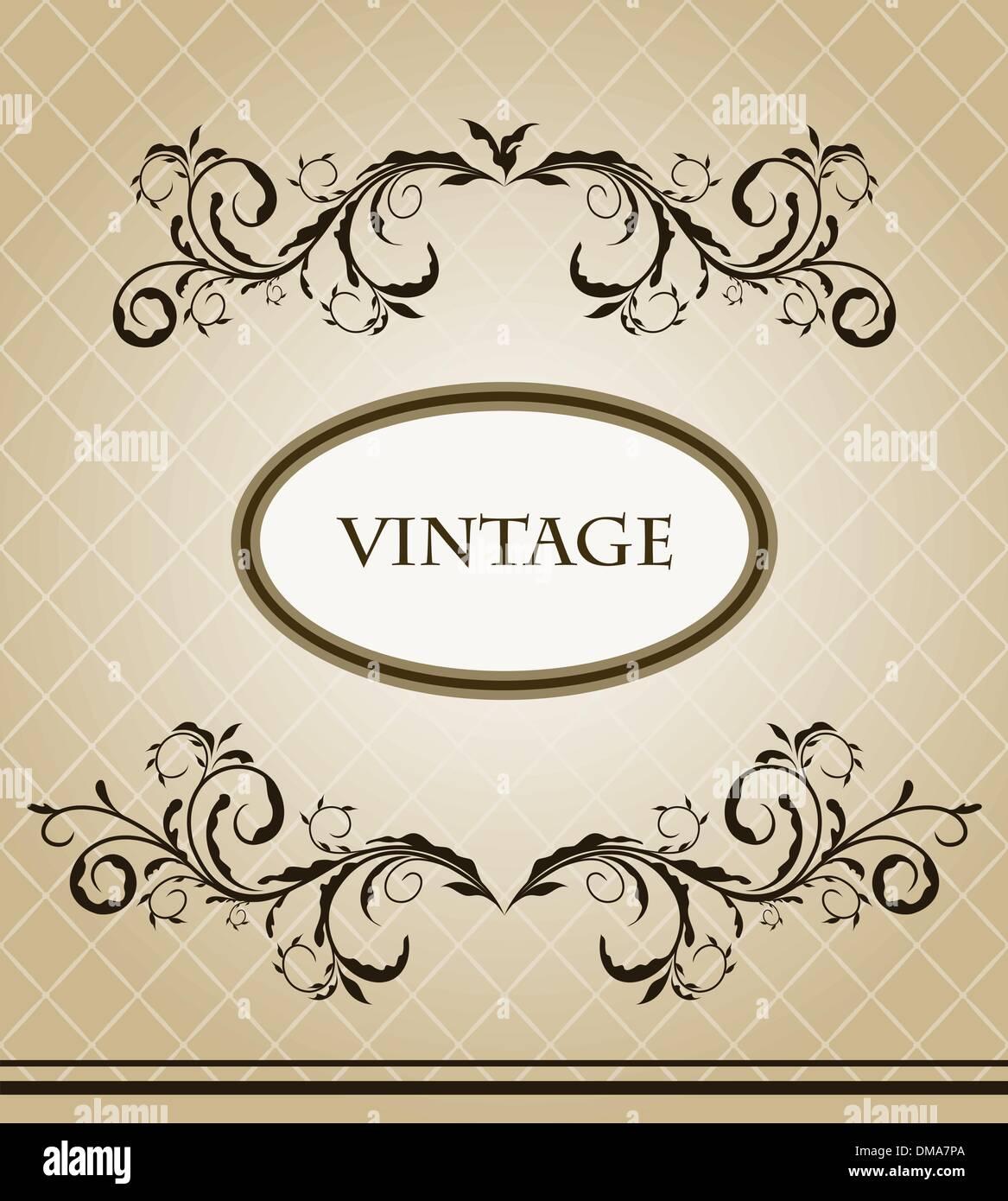 Vintage frame - Stock Image