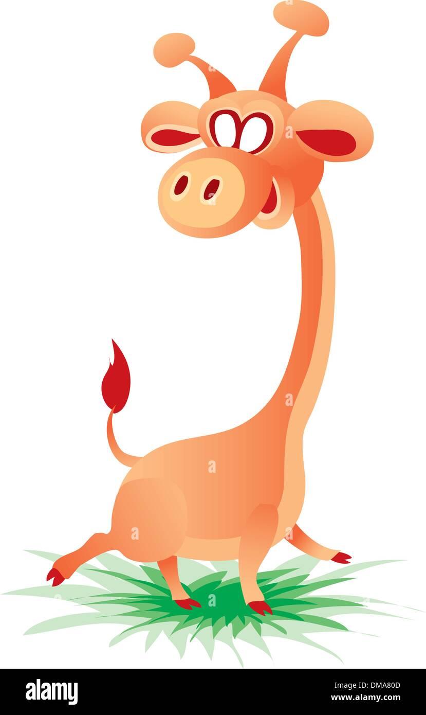 Cheerful giraffe - Stock Vector