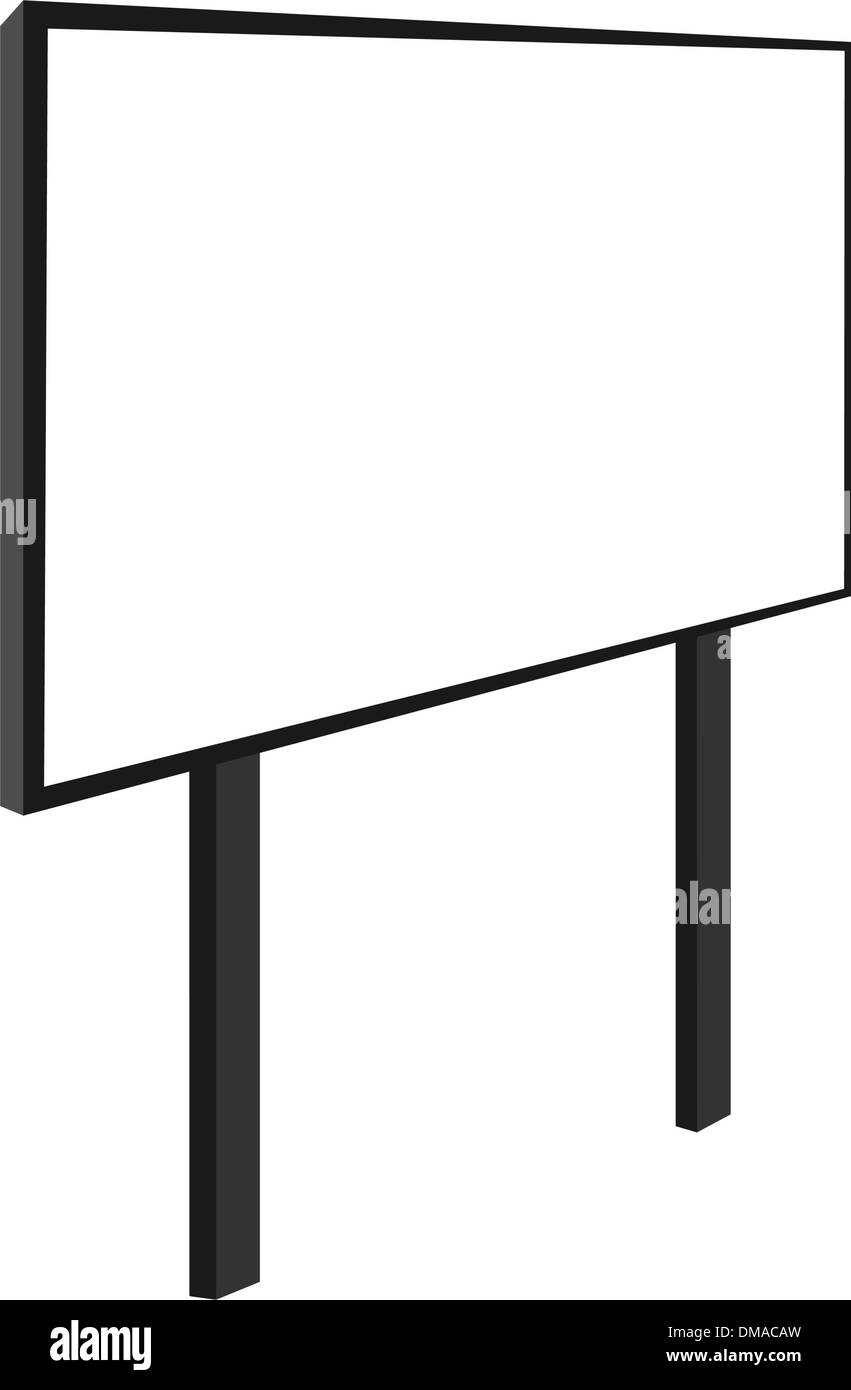 Empty billboard - Stock Image
