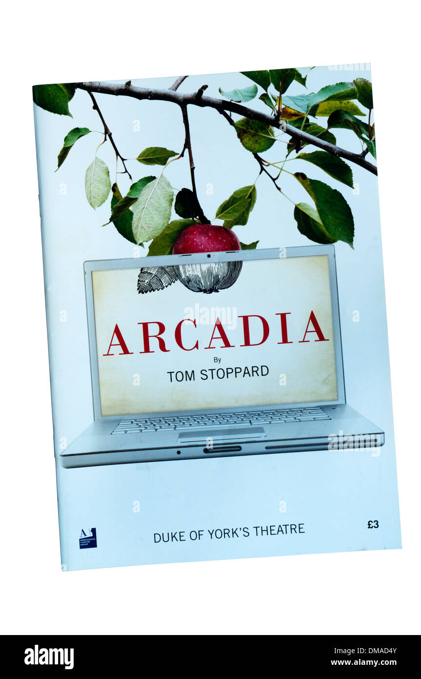 Programme for the 2009 production of Arcadia by Tom Stoppard at the Duke of York's Theatre. - Stock Image