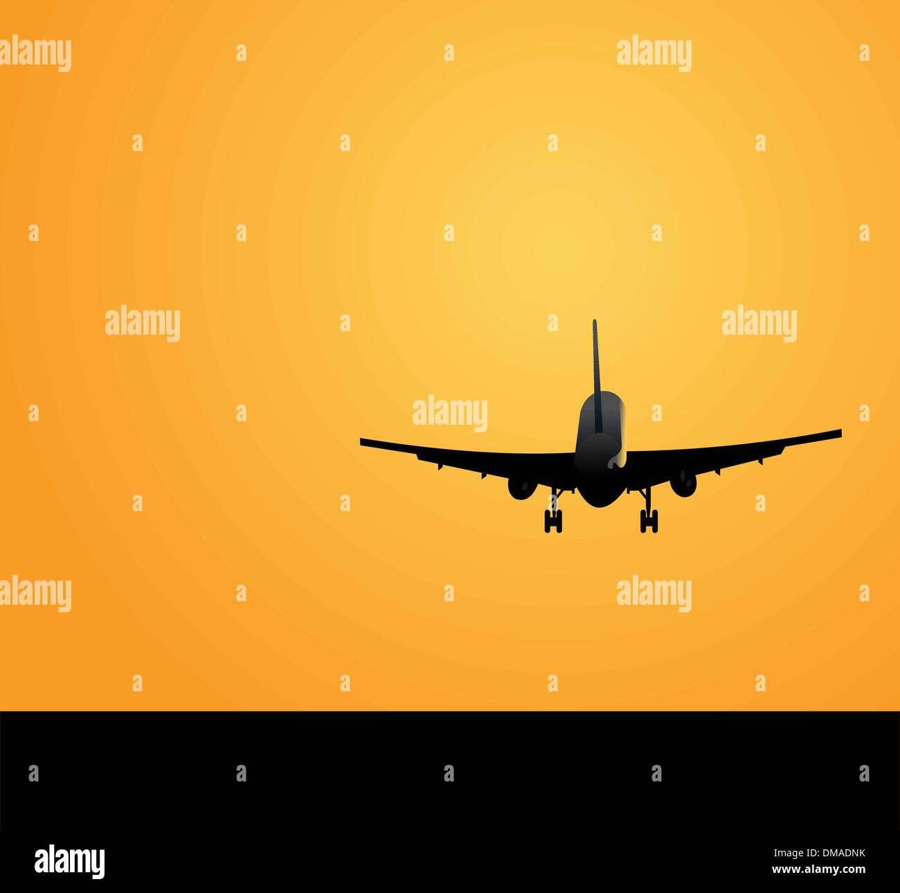 Plane against a decline - Stock Image