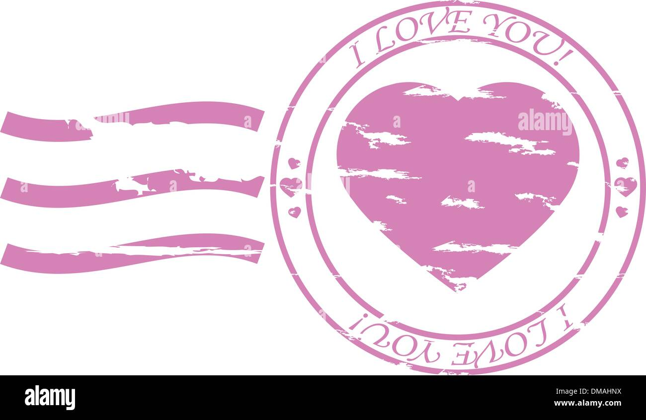 Vector Stamp With Heart Stock Photos & Vector Stamp With Heart Stock ...