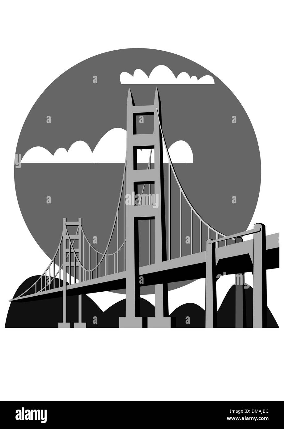 Golden Gate Bridge - vector - Stock Vector