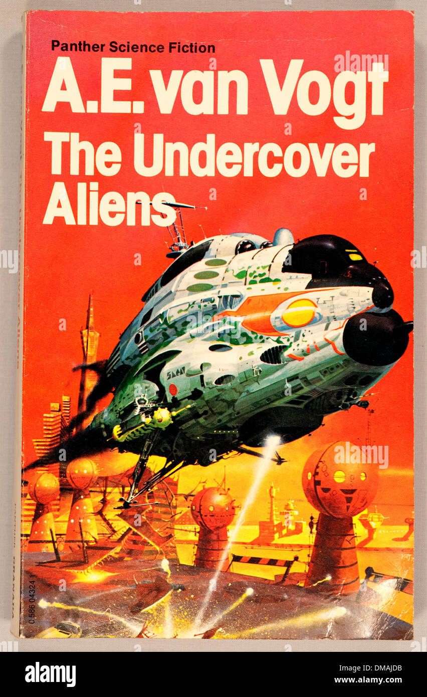 Classic SciFi Sci-Fi The Undercover Aliens A E Van Vogt Historical Archival Document - Stock Image