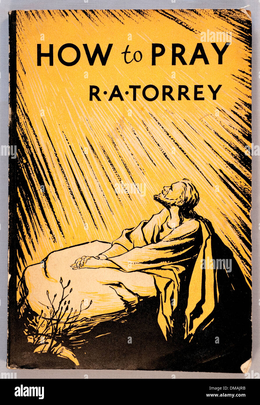 How To Pray Christian Book Illustration R A Torrey Historical Archival Document - Stock Image
