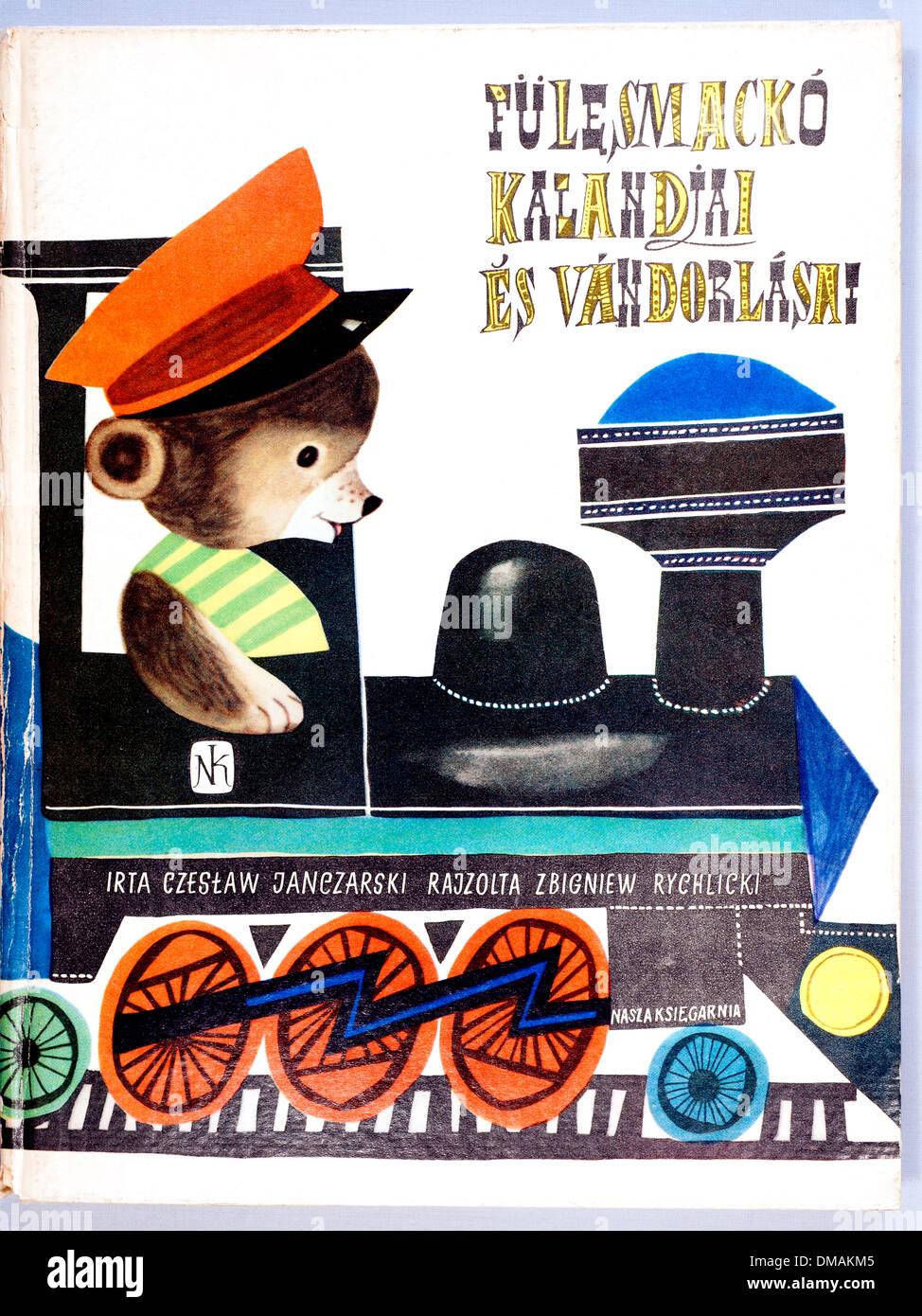 Vintage Old Hungarian Children's Book Illustration Historical Archival Document - Stock Image