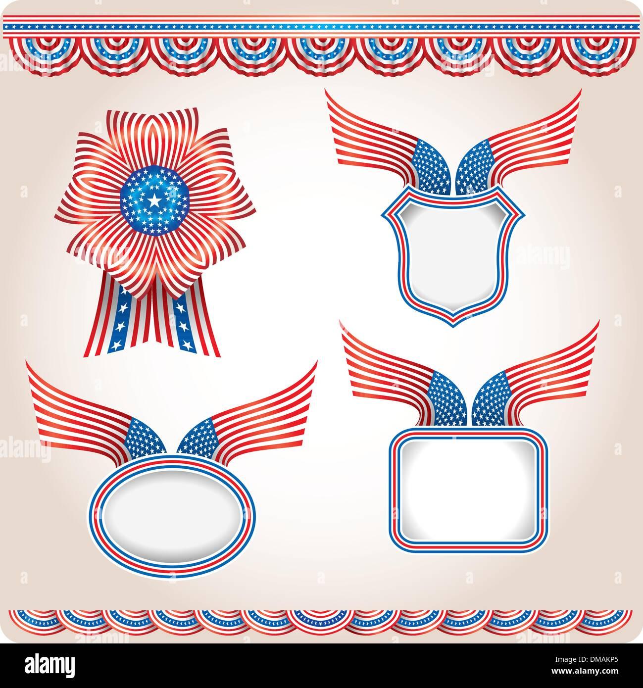 Americana - Set 2 - Stock Image
